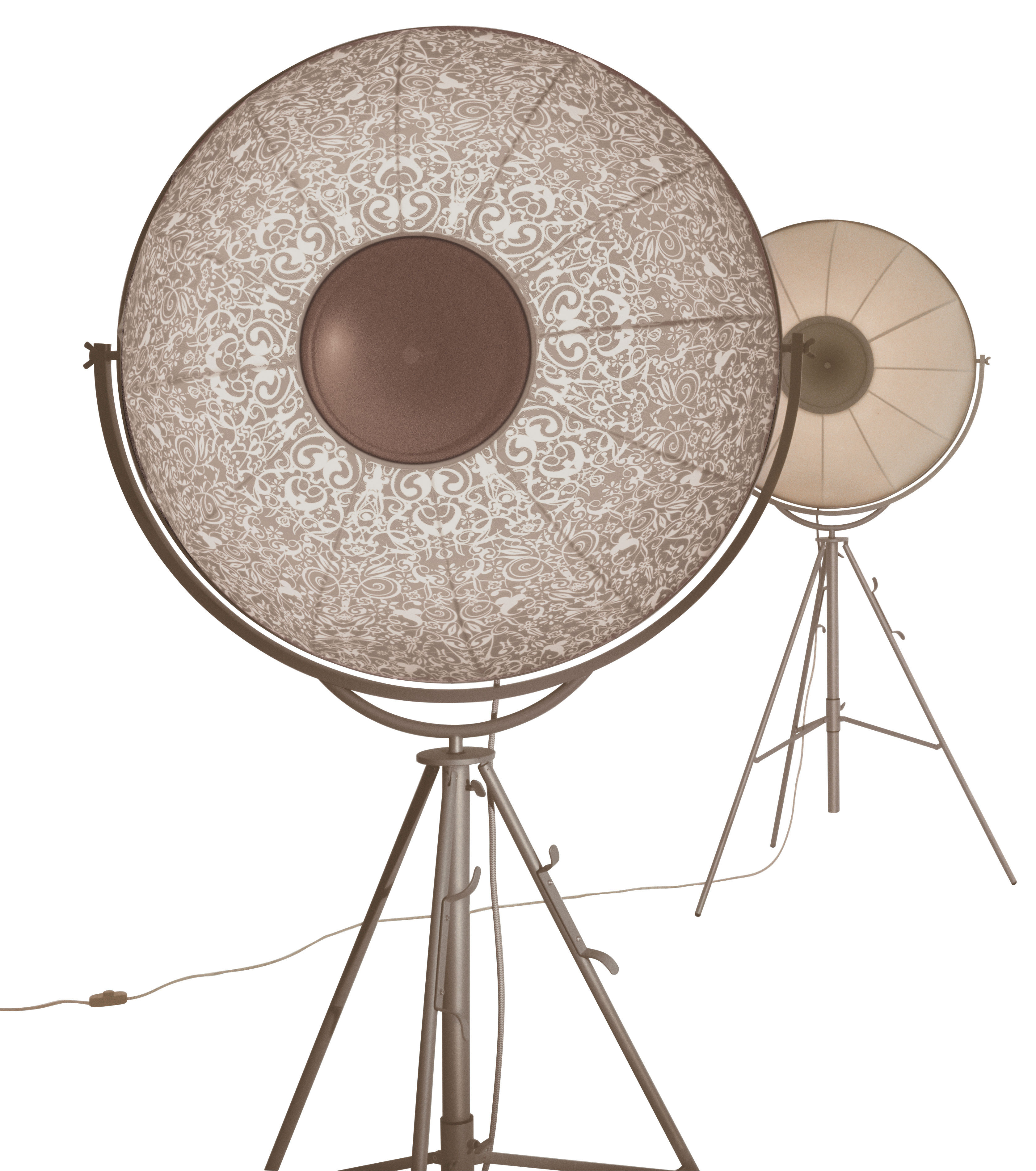 Fortuny Atelier 63 Floor Lamp White: Fortuny Ornaments Floor Lamp White Patterns On Beige Back