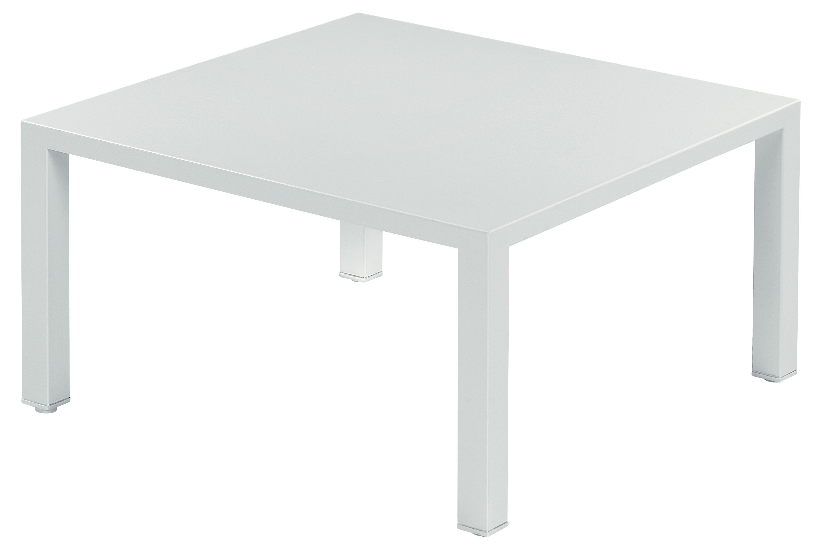Table basse round m tal 80 x 80 cm blanc emu for Table basse design 80 cm