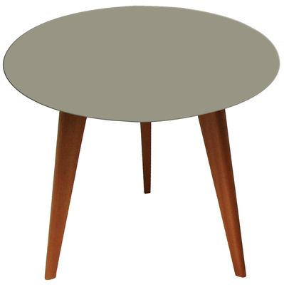 Lalinde Couchtisch rund - groß, Ø 55 cm / Tischbeine aus Holz - Sentou Edition - Grau,Eiche