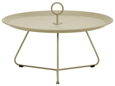 Table basse Eyelet Large / Ø 80 x H 35 cm - Houe khaki en métal