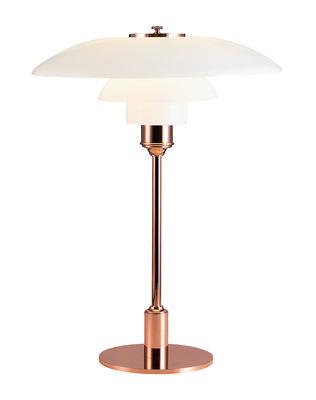 Luminaire - Lampes de table - Lampe de table PH 3½-2½ / Cuivre - Edition Limitée - Louis Poulsen - Cuivre - Cuivre, Verre soufflé bouche