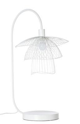 Papillon Tischleuchte / H 62 cm - Forestier - Weiß