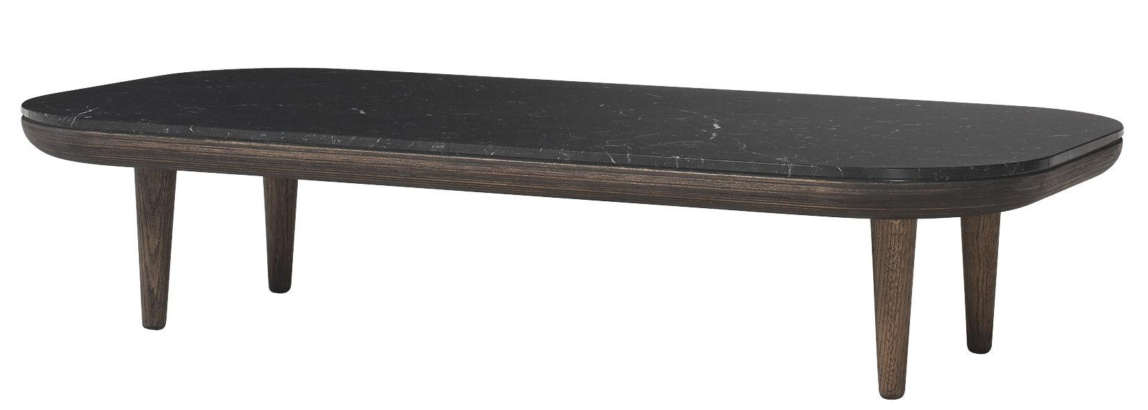 table basse fly marbre 120 x 60 cm ch ne fonc marbre noir tradition. Black Bedroom Furniture Sets. Home Design Ideas
