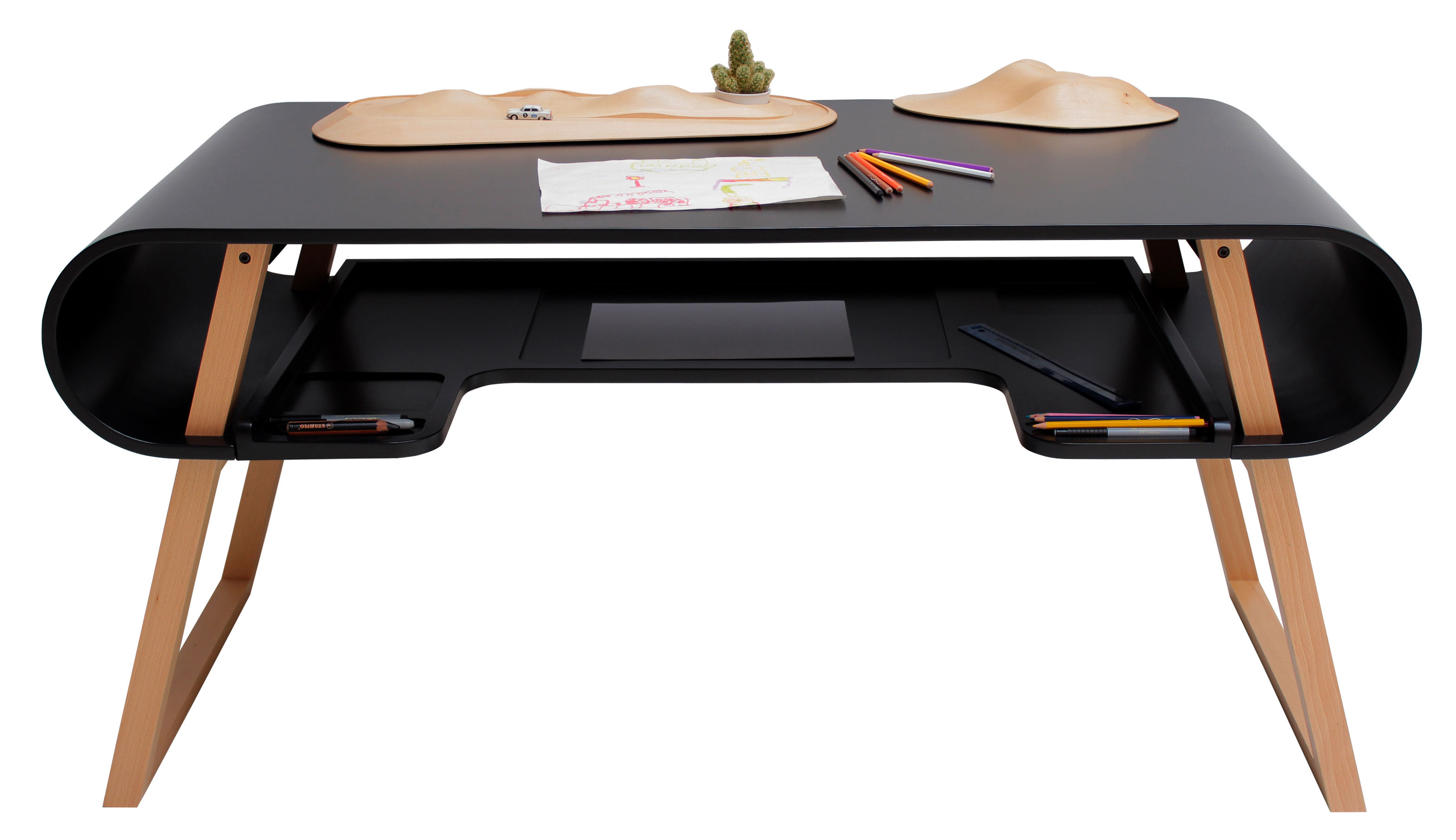 bureau enfant rubens noir compagnie. Black Bedroom Furniture Sets. Home Design Ideas