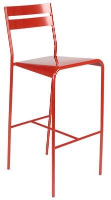 Möbel - Barhocker - Facto Hochstuhl - Fermob - Klatschmohn - lackierter Stahl