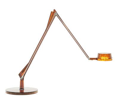 Lampe de table Aledin DEC / LED - Diffuseur rond - Kartell ambre en matière plastique