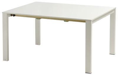 Jardin - Tables de jardin - Table à rallonge Round / L 160 à 268 cm - Emu - Blanc mat - Acier peint