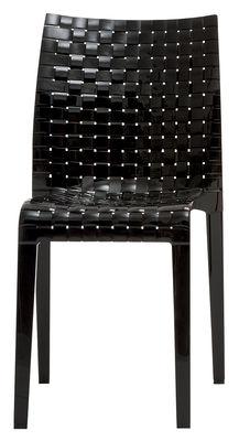 Mobilier - Chaises, fauteuils de salle à manger - Chaise empilable Ami Ami / Polycarbonate - Kartell - Noir brillant - Polycarbonate