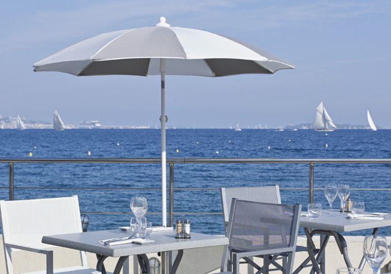 Aluminium parasol 200 cm grey by vlaemynck - Vlaemynck parasol ...