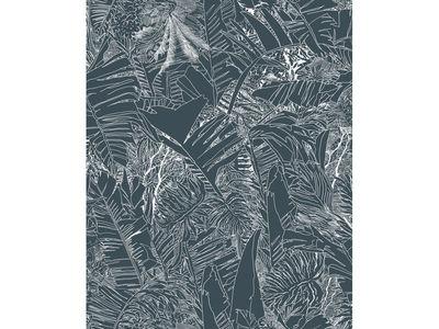 papier peint jungle 1 rouleau larg 70 cm blanc fond noir petite friture. Black Bedroom Furniture Sets. Home Design Ideas