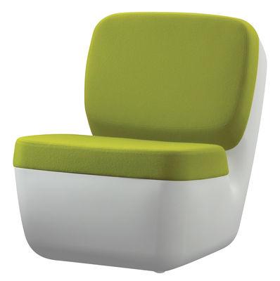 Poltrona bassa Nimrod di Magis - Bianco,Verde - Materiale plastico