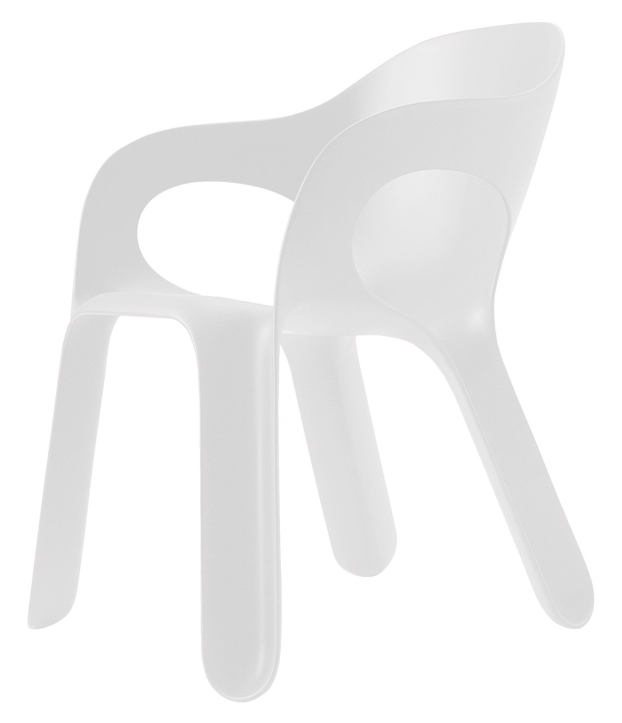 fauteuil empilable easy chair plastique blanc magis. Black Bedroom Furniture Sets. Home Design Ideas