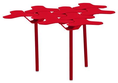 Table d'appoint Nanook 60 x 63 cm Métal Moroso rouge en métal