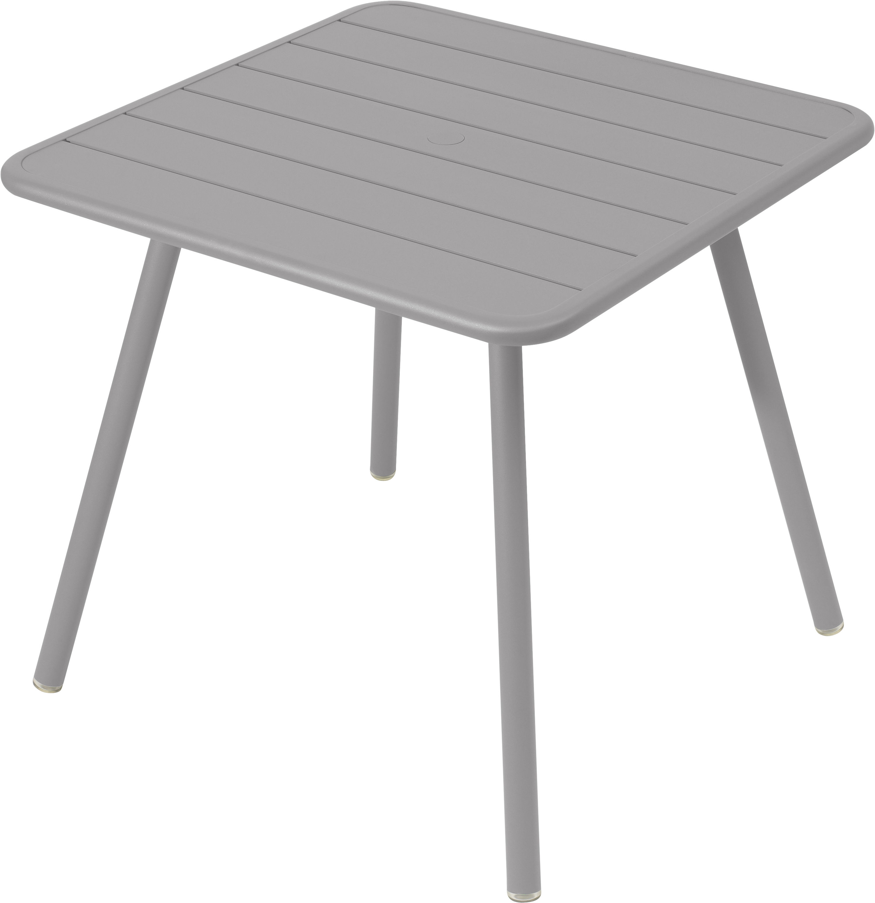 Table luxembourg 80 x 80 cm 4 pieds gris m tal fermob for Table 80 x 80