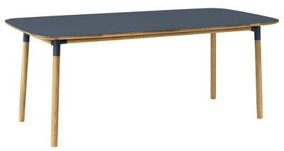 Table Form / 95 x 200 cm - Normann Copenhagen bleu,chêne en matière plastique