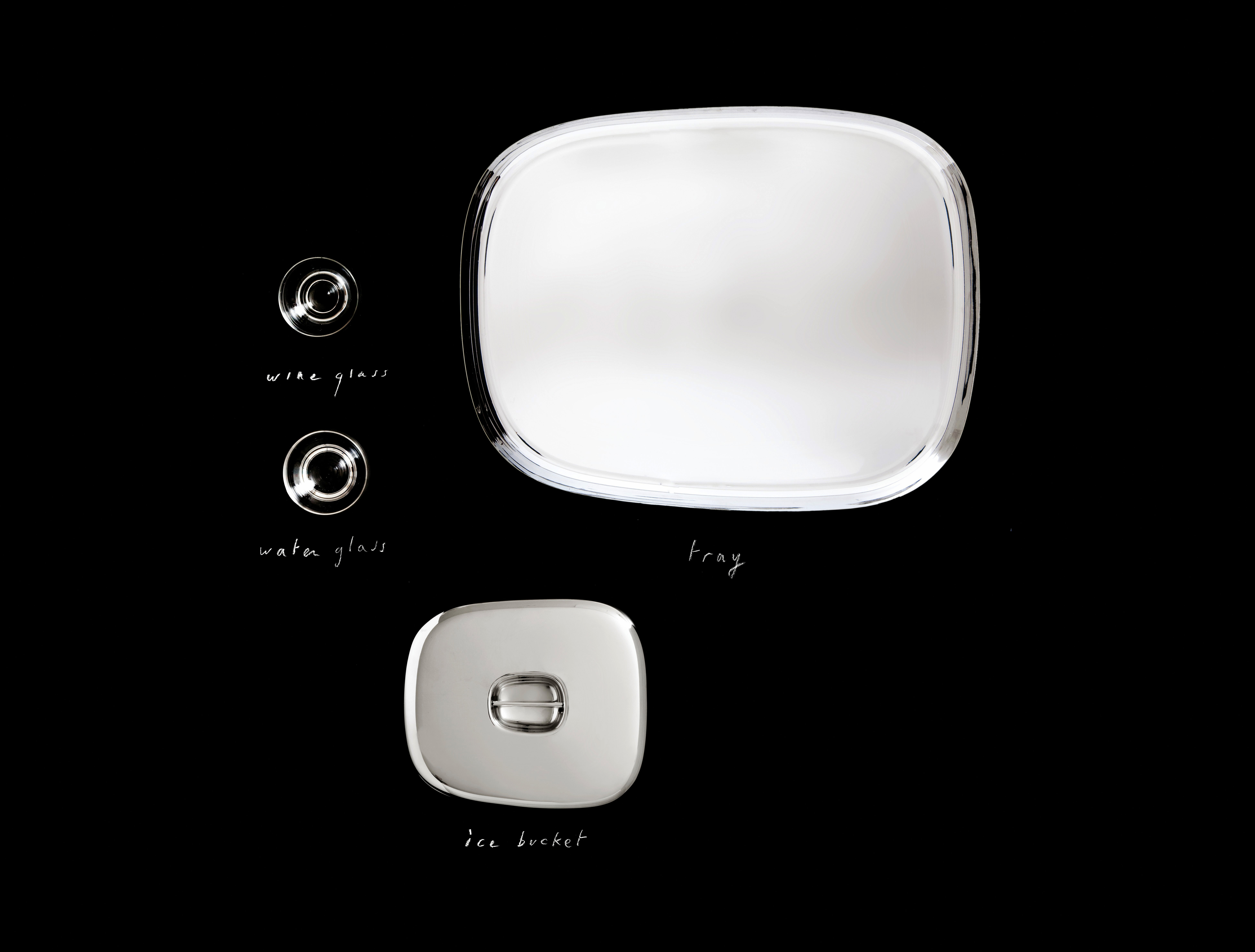 ovale plate white by alessi - zoom