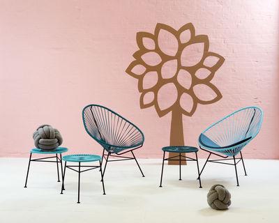 tabouret empilable centro plastique tress bleu p trole ok design pour sentou edition. Black Bedroom Furniture Sets. Home Design Ideas