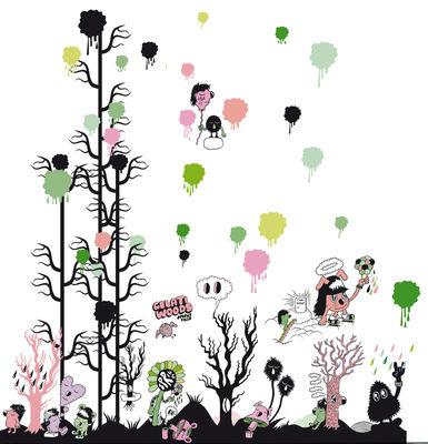 Déco - Stickers, papiers peints & posters - Sticker Gelati woods - Domestic - Multicolore - Vinyle