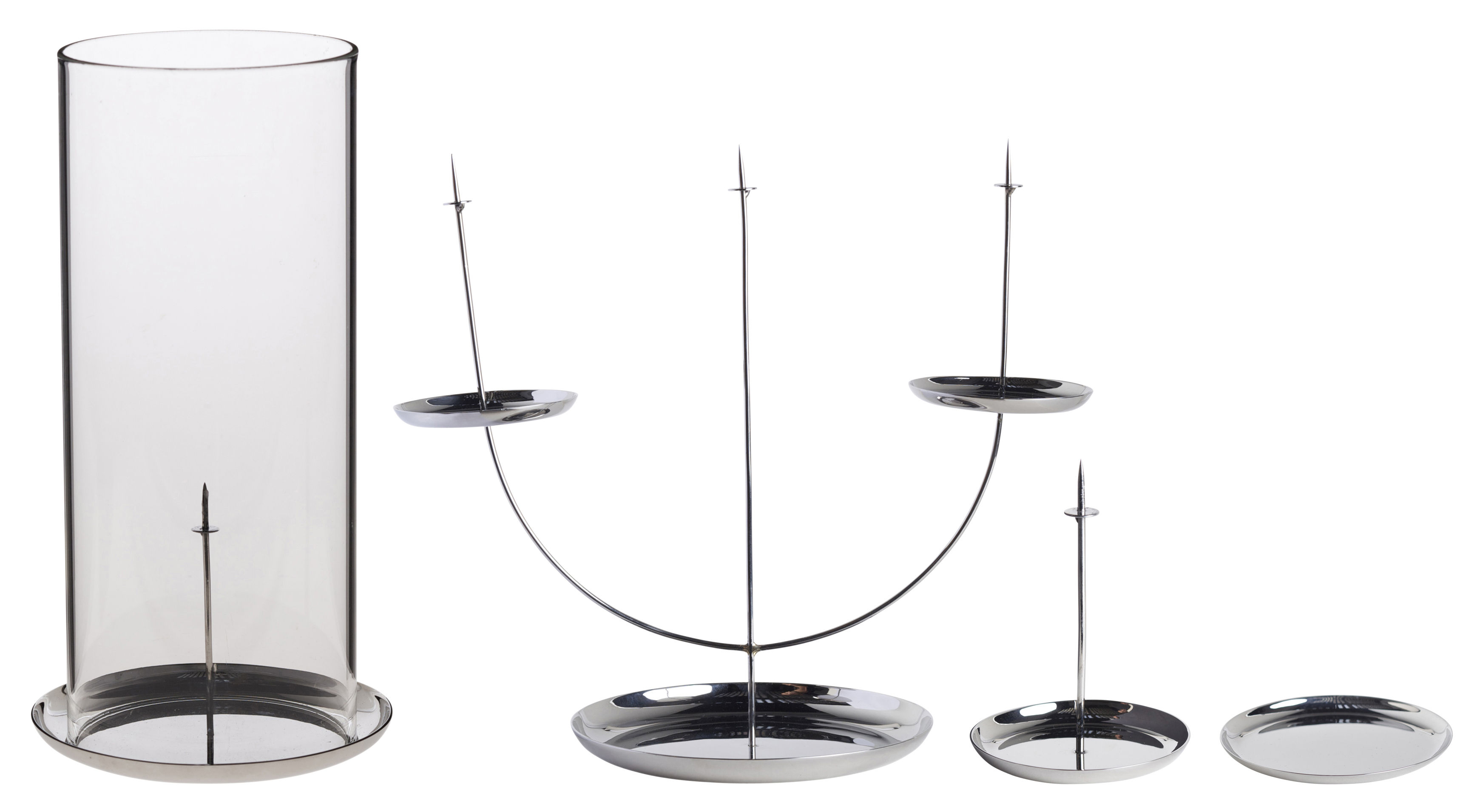 multi pin candelabra black by enostudio