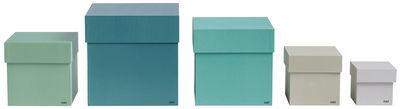 Foto Scatola Box Box - / Set 5 scatole di Hay - Verde - Carta