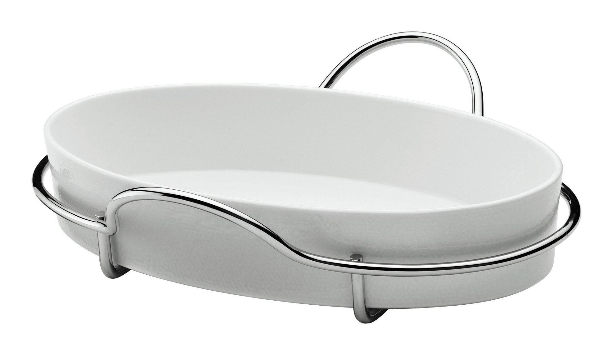 plat gratin al dente ovale plat ovale acier blanc serafino zani. Black Bedroom Furniture Sets. Home Design Ideas