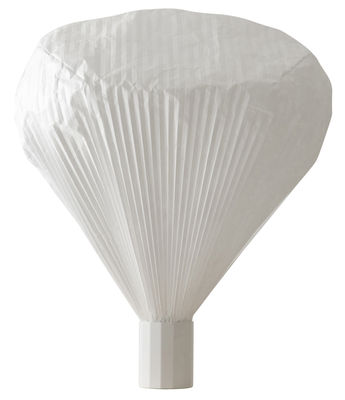 Lighting - Table Lamps - Vapeur Floor lamp - H 85 cm by Moustache - H 85 cm - White - Lacquered metal, Tyvek