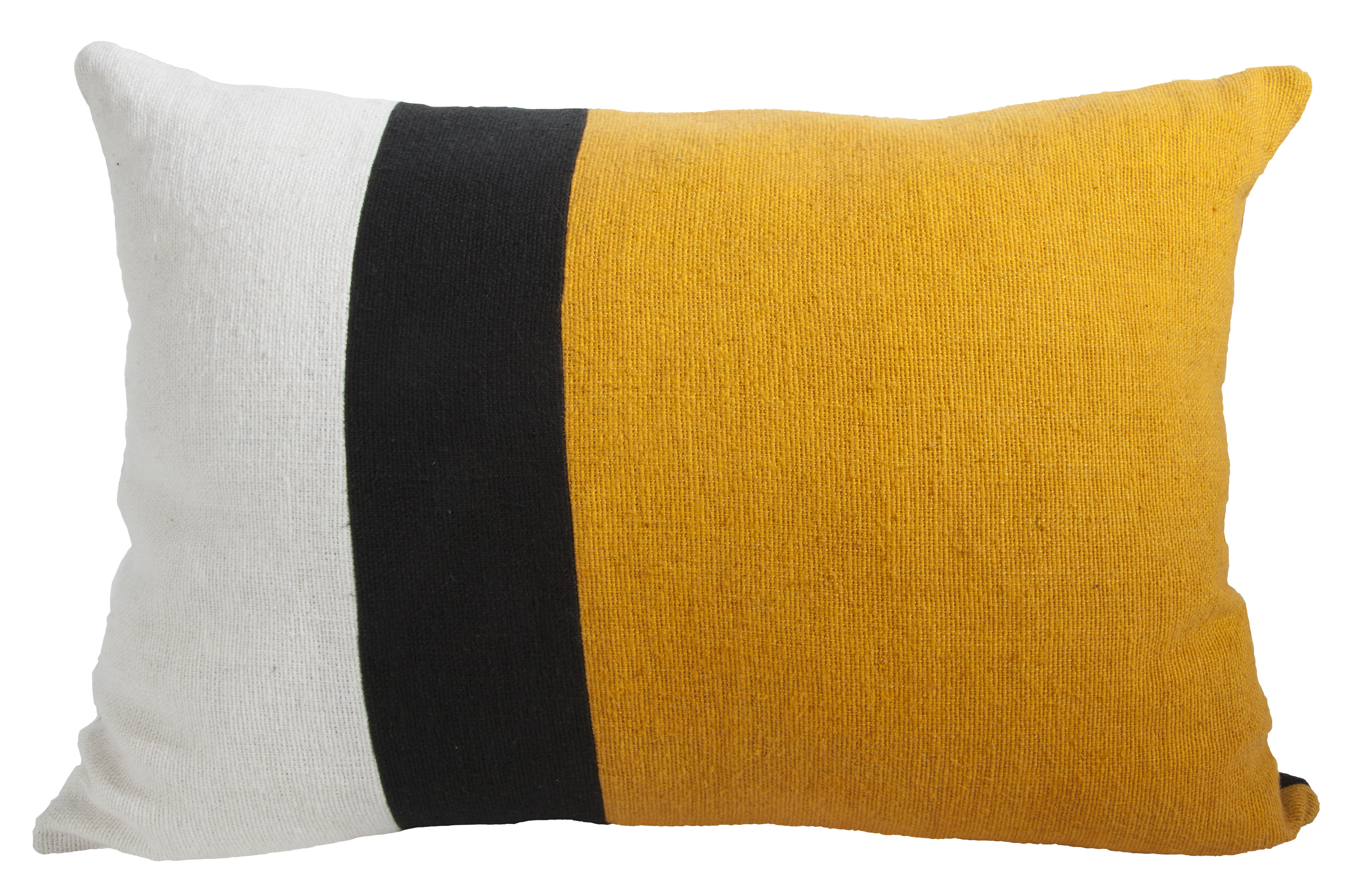 housse de coussin sicilia 40 x 55 cm jaune noir blanc maison sarah lavoine made in design. Black Bedroom Furniture Sets. Home Design Ideas