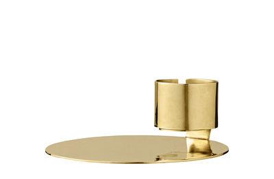 Bougeoir Anulum / Pour bougie chauffe-plat - AYTM laiton doré en métal
