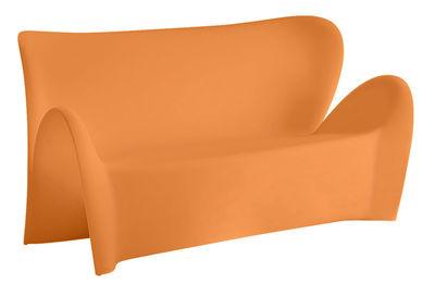 Foto Sofà Lily - 3 posti - L 179 cm di MyYour - Arancio opaco - Materiale plastico