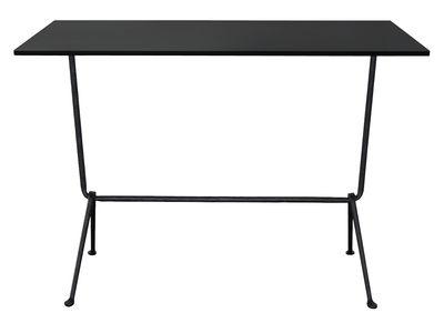 table haute officina bistrot outdoor h 110 cm 120 x 60 cm plateau acier acier noir pieds. Black Bedroom Furniture Sets. Home Design Ideas