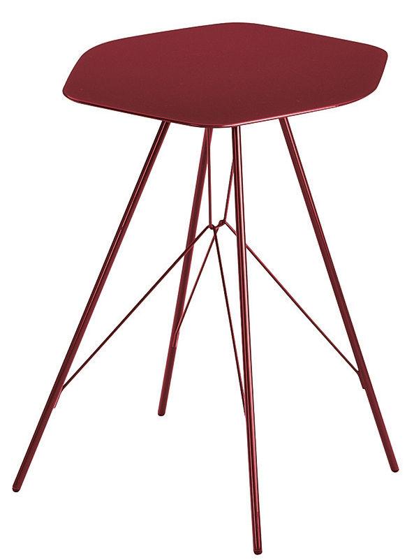 table d 39 appoint emil acier rouge zanotta made in design. Black Bedroom Furniture Sets. Home Design Ideas