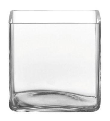 column vase quadratisch 15 x 15 cm transparent by leonardo made in design. Black Bedroom Furniture Sets. Home Design Ideas