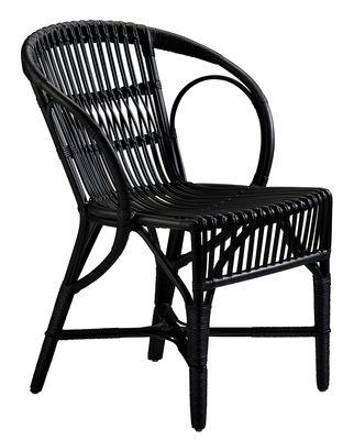 Chaise Wengler / Réédition 1902 - Sika Design noir en rotin & fibres