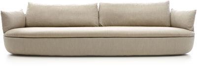 Divano destro Bart XL - / L 295 cm - Tessuto di Moooi - Marrone chiaro - Tessuto