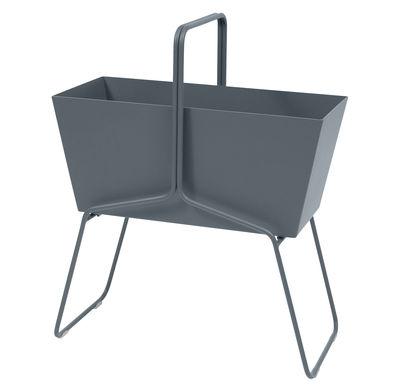 Foto Fioriera Basket alta / L 70 x H 84 cm - Fermob - Grigio temporale - Metallo
