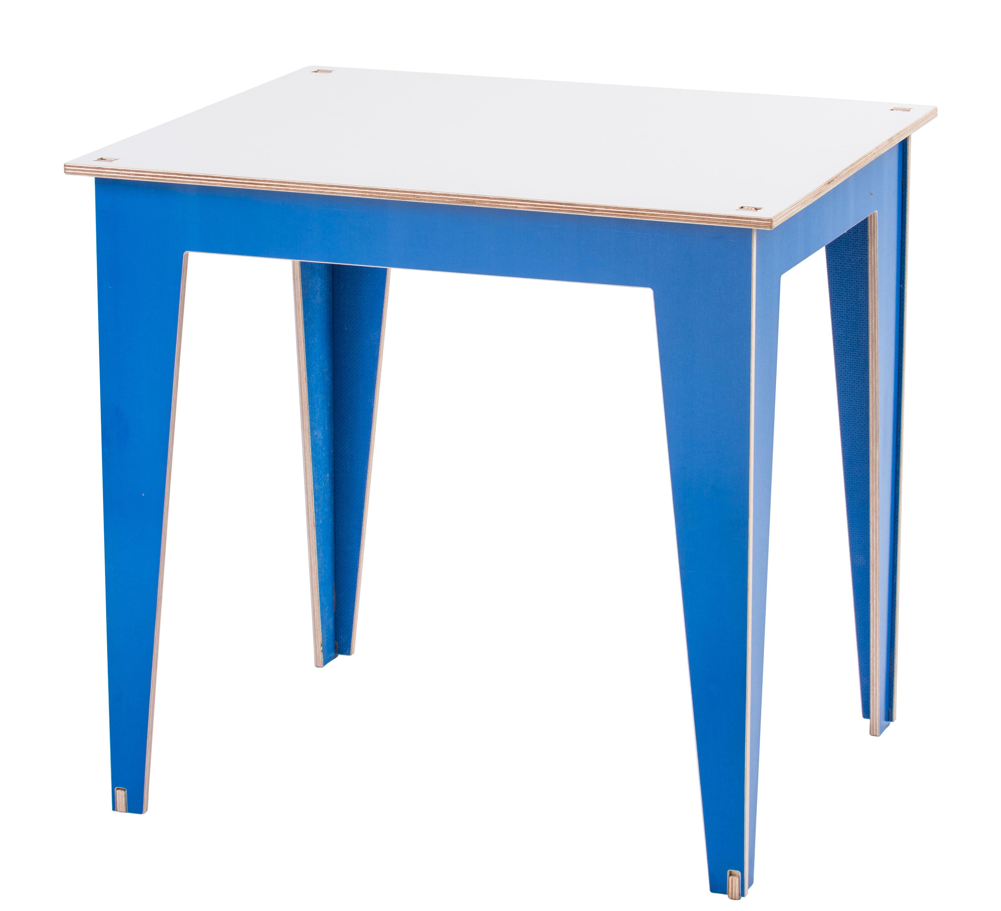 table enfant kidiki plateau tableau blanc blanc pieds bleus kirigami design. Black Bedroom Furniture Sets. Home Design Ideas