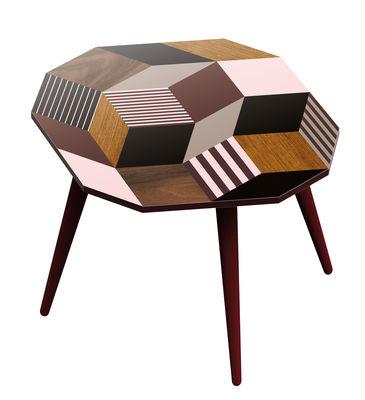 Table basse Penrose Fancywood MEDIUM / 39 x 41 cm x H 35 cm - Exclusivité - Bazar Therapy pour Made in design bois,taupe,rose poudré en bois