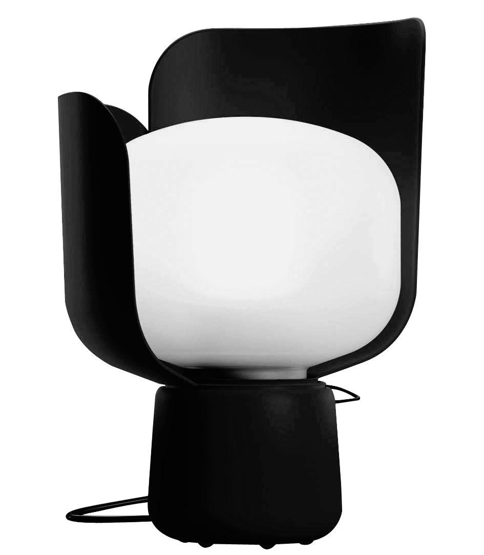 lampe de table blom h 24 cm noir fontana arte. Black Bedroom Furniture Sets. Home Design Ideas