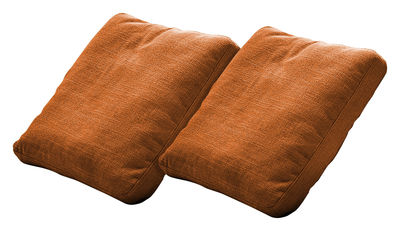 Foto Cuscino Plastics Duo - Set di 2 di Kartell - Arancione - Tessuto