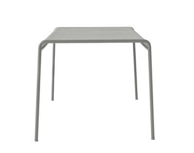 Jardin - Tables de jardin - Table Palissade / 80 x 80 - R & E Bouroullec - Hay - Gris clair - Acier électro-galvanisé, peinture époxy
