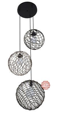 Sphere Multiple Pendelleuchte / Bambus - Set mit 3 Kugeln - Forestier - Schwarz,Taupe