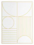 Set da tavolo Outline / Sughero - 40 x 30 cm - Ferm Living - Oro,Bianco sporco - Materiale plastico