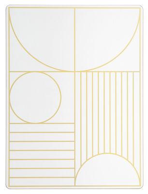 Set de table Outline / Liège - 40 x 30 cm - Ferm Living or,blanc cassé en matière plastique