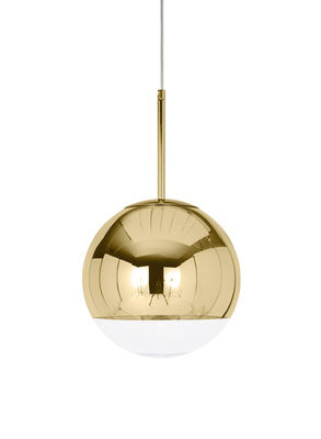 Foto Sospensione Mirror Ball Small - / Ø 25 cm di Tom Dixon - Oro - Materiale plastico