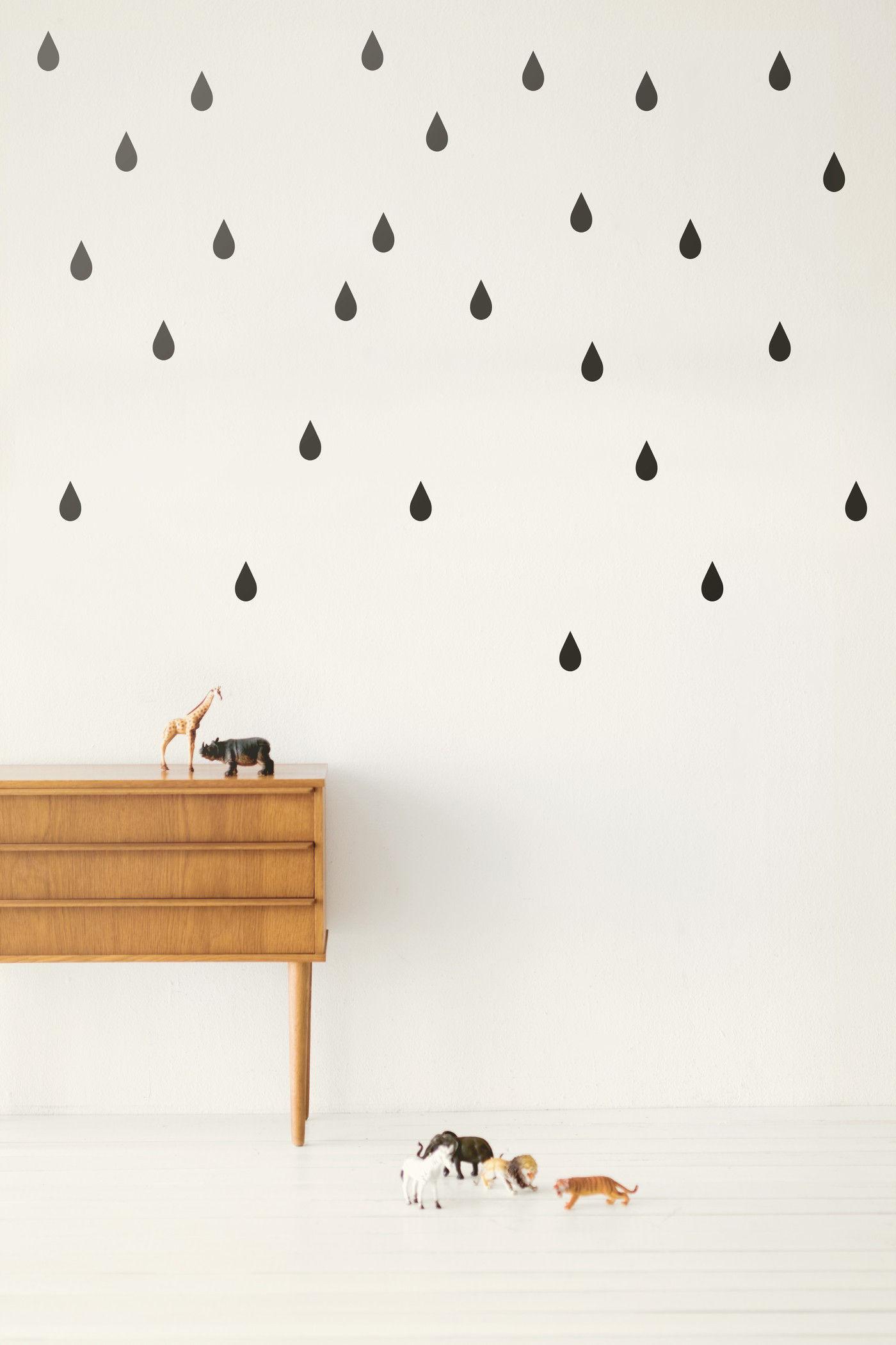 sticker mini drops set 44 gouttes noir ferm living. Black Bedroom Furniture Sets. Home Design Ideas
