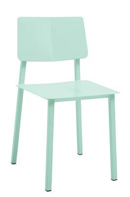 Mobilier - Chaises, fauteuils de salle à manger - Chaise Rosalie - Hartô - Vert pastel - Acier