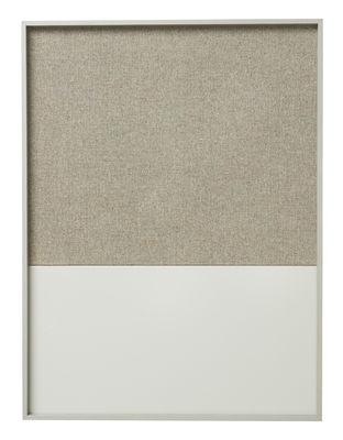Accessoires - Accessoires bureau - Panneau mémo Frame Pinboard / 62 x 82 cm - Ferm Living - Gris - Chêne, Coton, Liège, Métal laqué
