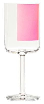 Verre à vin rouge Colour Glass / Rectangle rose - 40 cl - Hay rose,transparent en verre