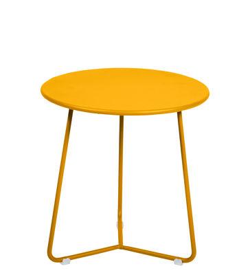 Tavolino d'appoggio Cocotte - / Sgabello - Ø 34 x H 36 cm di Fermob - Miele - Metallo