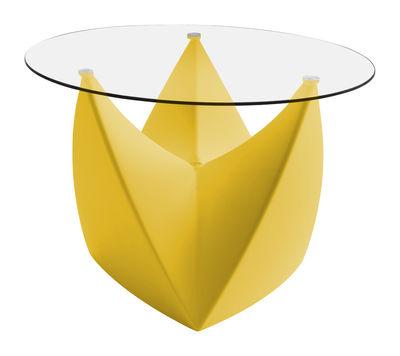 Tavolino Mr. LEM di MyYour - Giallo,Trasparente - Vetro
